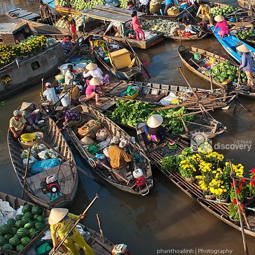 Cai Rang Floating Market Can Tho - Mekong Delta Tour 7