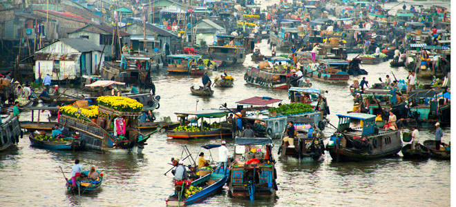 Impressive Cai Rang Floating market - Mekong delta tour from Ho Chi Minh City