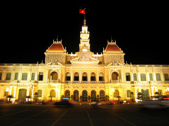 Sparkling Municipal People's Committee headquarters - Ho Chi Minh City Travel guide