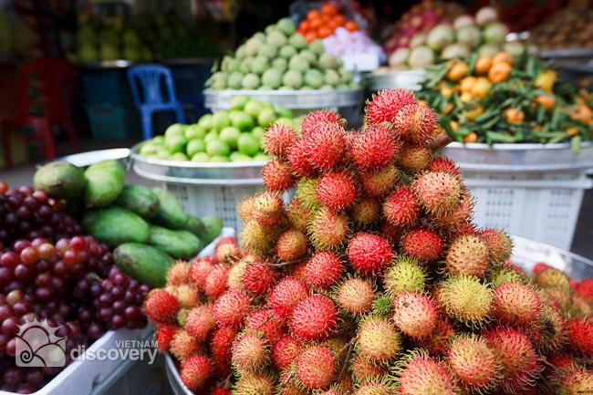 Fresh rambutan in Mekong region - Mekong day tour