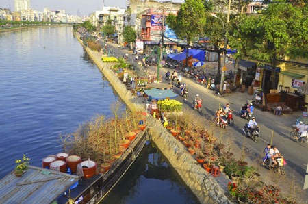 Binh Dong flower market from bird's eye view - Travel to Ho Chi Minh City