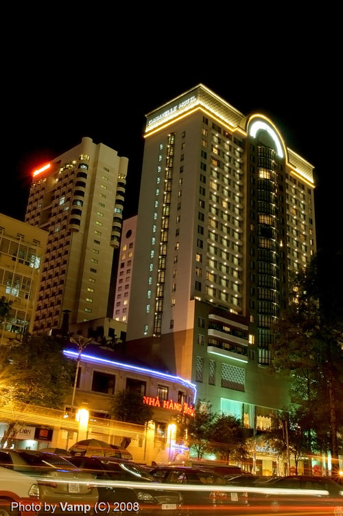 5-star Caravelle Hotel Saigon at night - Ho Chi Minh City Travel Guide