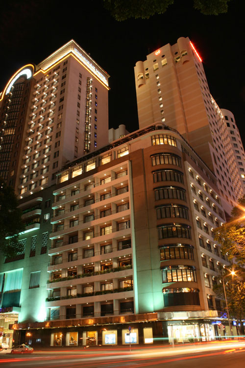 Luxury hotel at main streets in Ho Chi Minh CIty at night - Things to do in Saigon