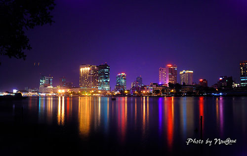 Colorful Saigon river at night - Ho Chi Minh City Travel Guide