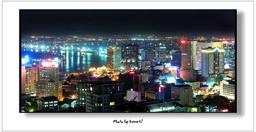 View of Saigon River at night - things to do in Ho Chi Minh City