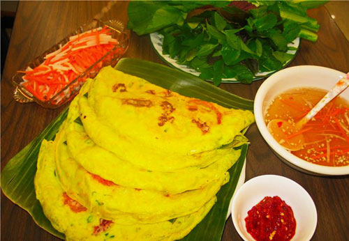 Xeo Cake at Southern folk cake festival - Travel to Can Tho Mekong Delta